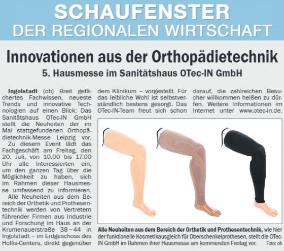 5. Hausmesse im Sanitätshaus OTec-IN GmbH
