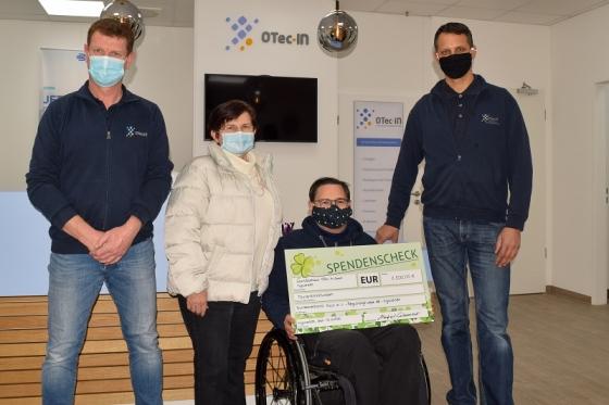Spende der OTec-IN GmbH an die Selbsthilfegruppe für Polio-Betroffene