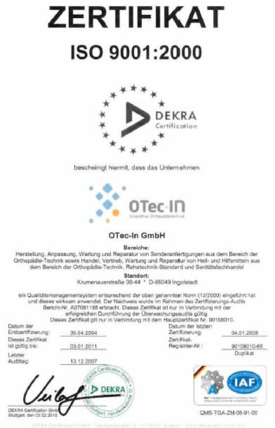 OTec-IN Innovative Orthopädietechnik in Ingolstadt - Aktuelles ...